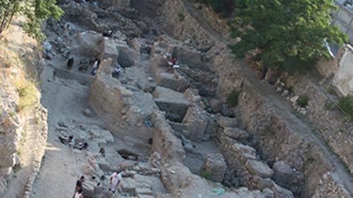The excavation site in Sidon. (Dr Claude Doumet-Serhal)