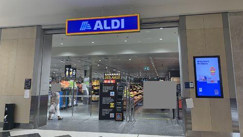 Aldi shop front front Castle Hill