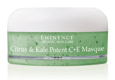 """<a href=""""https://www.eminenceorganics.com.au/category/collections/citrus-and-kale/"""" target=""""_blank"""">Citrus and Kale Potent C&E Masque, $102, Eminence</a>"""