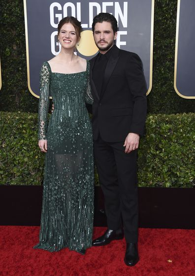 Rose Leslie and Kit Harington, Golden Globes