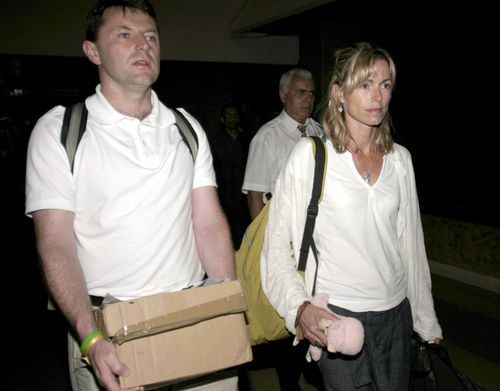 Kate and Gerry McCann, the parents of missing British girl Madeleine McCann, arrive at Casablanca Airport in Morocco in June 2007.