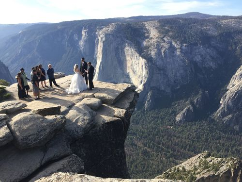 Taft Point is a popular location for weddings and proposals with its picturesque views.