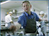 Luke Mangan in the kitchen