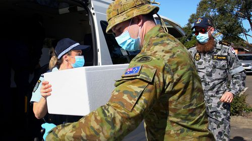 Their tasks will include assisting NSW Police with compliance, helping contact tracers, and delivering care packages to people in isolation. ADF Sydney lockdown