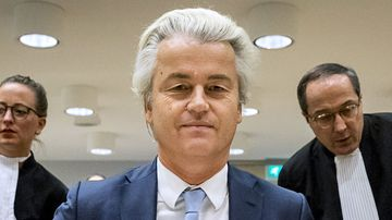 Geert Wilders (C) of the Party for Freedom (PVV). (AFP)