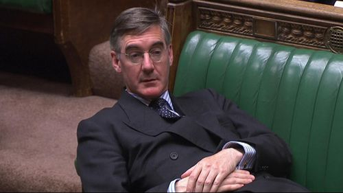 """Tory MP Jacob Rees-Mogg was criticised for his """"contemptuous"""" body language during the debate."""