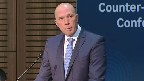 Immigration Minister Peter Dutton has opened a meeting of southeast Asian leaders in Sydney this weekend by pushing the need for counter-terrorism measures. Picture: 9NEWS.