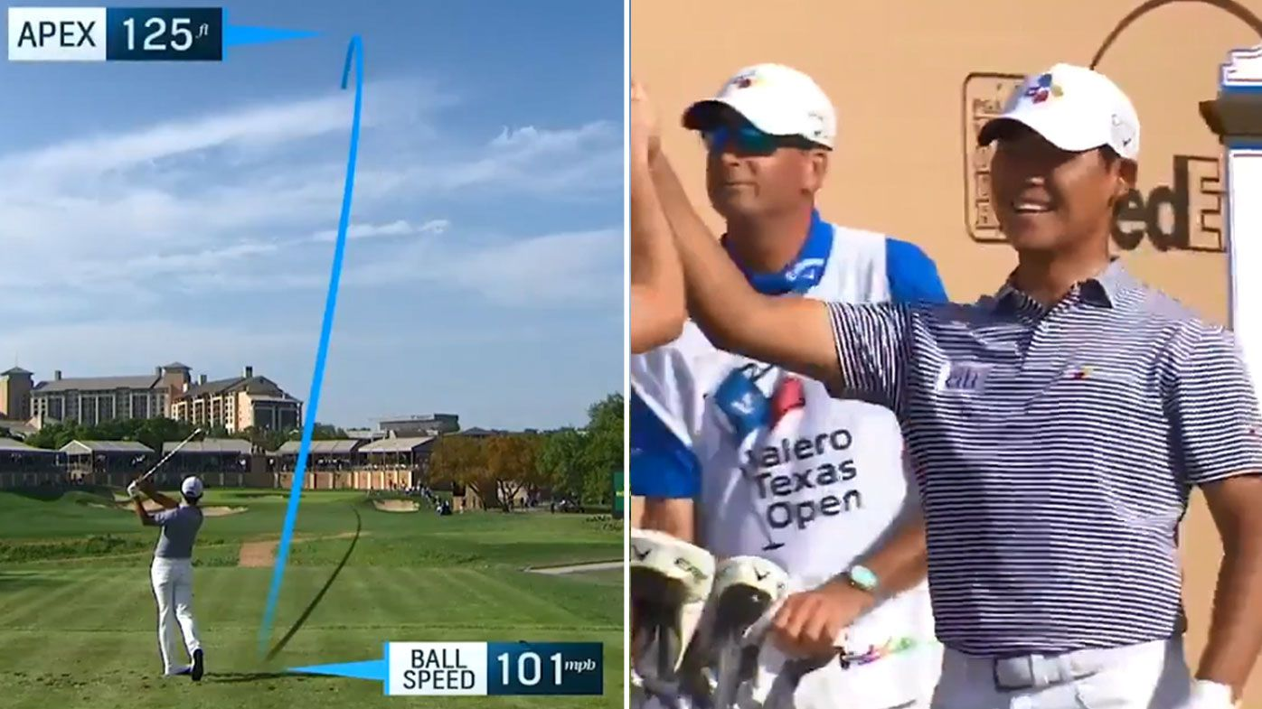 Si Woo Kim extends Texas Open lead with incredible ace on 16th hole