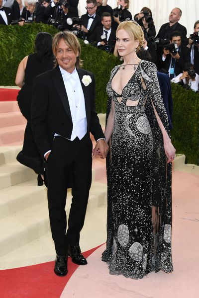Keith Urban and Nicole Kidman in  Alexander McQueen at Manus x Machina: Fashion In An Age Of Technology Met Gala in 2016