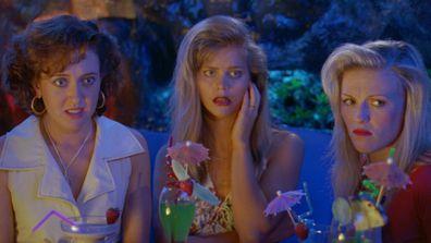 Roz Hammond as Cheryl, Sophie Lee as Tanya and Belinda Jarrett as Janine in Muriel's Wedding