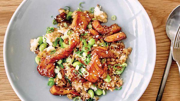 Teriyaki salmon rice bowl_recipe