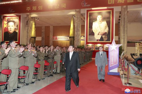 The North Korean leader said his drive to build up his military isn't targeted at South Korea and that there shouldn't be another war pitting Korean people against each other.
