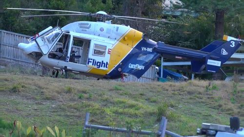 A crime scene was also established at the house as investigations continue. Picture: 9NEWS.