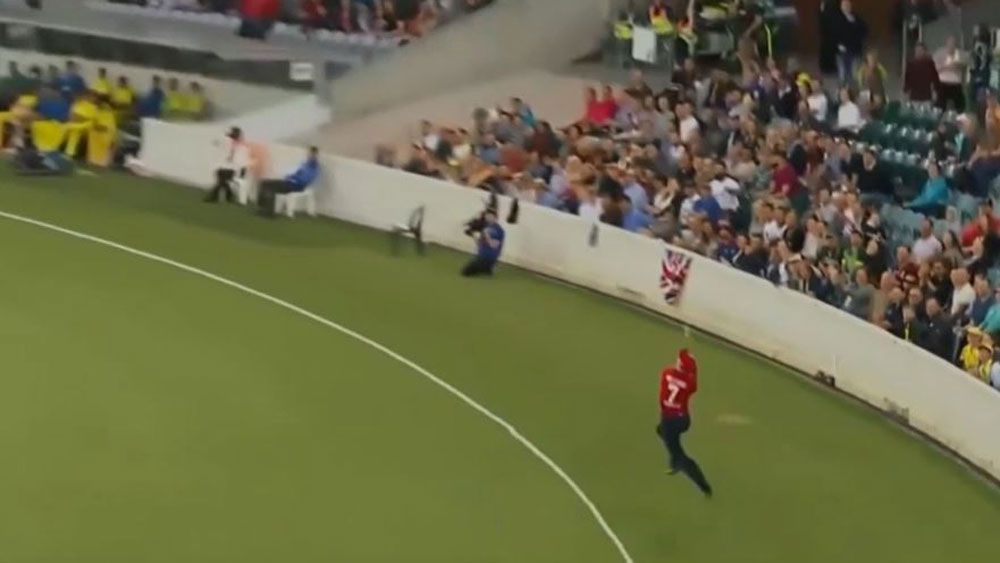 England's Sam Billings spectacular catch in T20 against Australian Prime Minister's XI divides fans