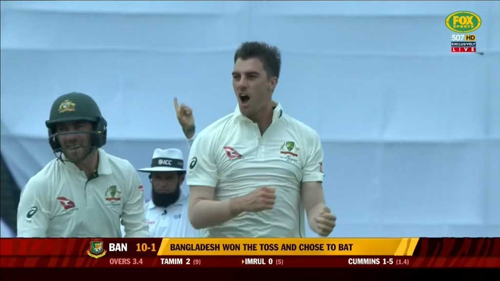 Cummins rips through Bangladesh