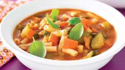 "Recipe:&nbsp;<a href=""http://kitchen.nine.com.au/2016/05/13/10/59/meal-in-a-bowl-minestrone"" target=""_top"">Meal in a bowl minestrone</a>"