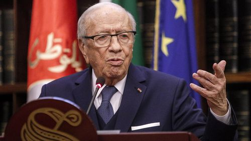Tunisian president Beji Caid Essebsi at 92