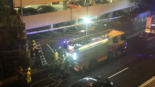 Today's clean-up will close one north bound lane of Manly Road, with motorists urged to expect significant delays.