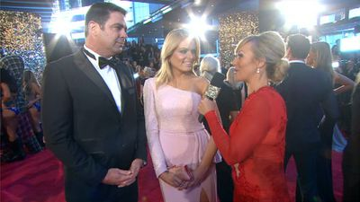 Nine Sport's presenter Erin Molan was interviewed on the red carpet, alongside Garry Lyon.