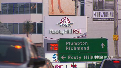The woman fled to the Rooty Hill RSL to seek assistance. (9NEWS)