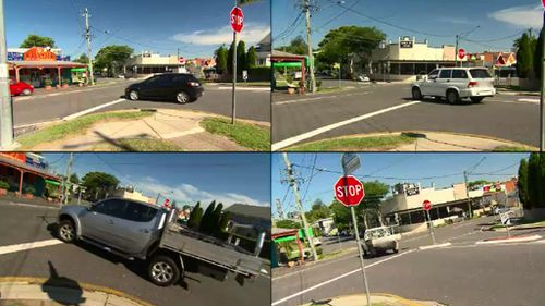 Many drivers failed to stop at a Rosalie stop sign. (9NEWS)