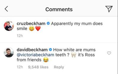 David Beckham, trolls, Victoria Beckham, teeth, Instagram, photo, comment