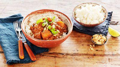 "Recipe: <a href=""http://kitchen.nine.com.au/2017/06/13/09/21/curtis-stones-chicken-pumpkin-massaman-curry"" target=""_top"">Curtis Stone's chicken kabocha pumpkin curry</a>"