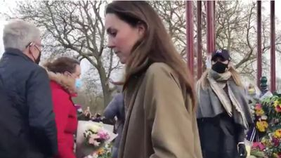 Kate joins mourners at Sarah Everard vigil, 2021