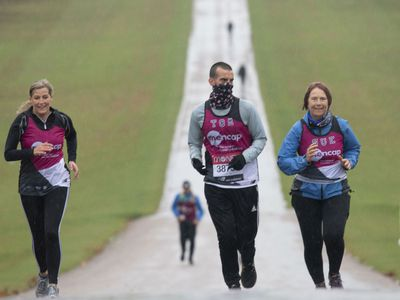 Sophie, Countess of Wessex runs in the 2020 London Marathon, October