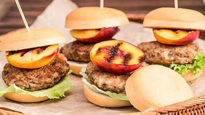 <strong>Pork and nectarine sliders</strong>