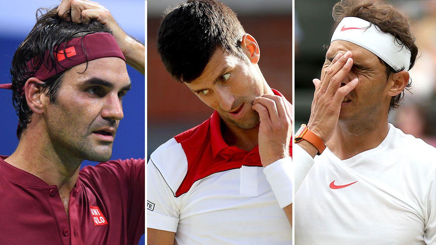 Federer, Djokovic and Nadal