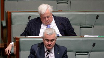 Clive Palmerasleep during one of the days he showed up.