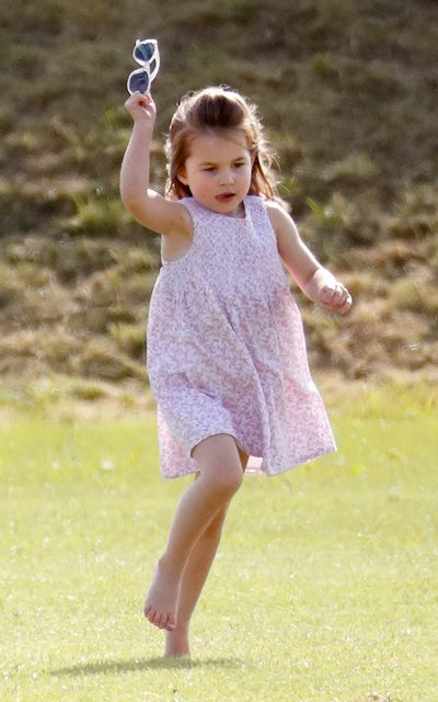Princess Charlotte at the Maserati Royal Charity Polo Trophy at the Beaufort Polo Club in Gloucester, England, June, 2018