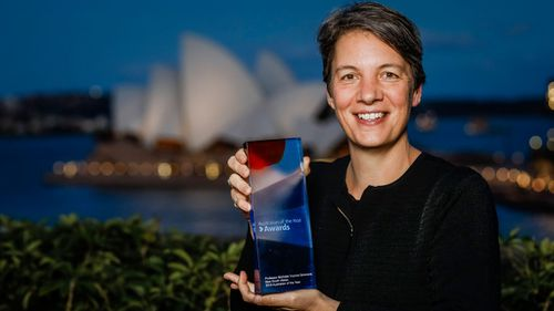 Professor Michelle Yvonne Simmons after being awarded 2018 NSW Australian of the Year (Image: AAP)