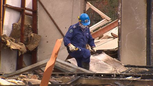 The explosion damaged a number of surrounding houses. (9NEWS)