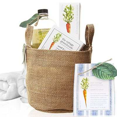 "<a href=""http://www.thecottagegreenhouse.com/collections/spa-gift-sets"" target=""_blank"">Bath Gift Sets by the Cottage Greenhouse.</a>"