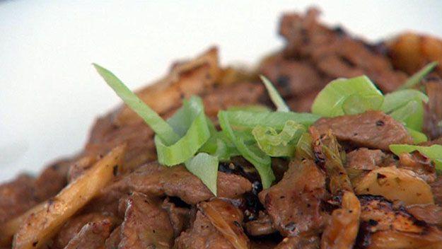 Black pepper beef & boab stir-fry