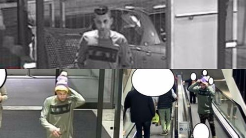 The man was spotted wearing a distinct beanie with a pompom. (Vic Police)