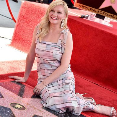 Kirsten Dunst receives a star on the Hollywood walk of fame