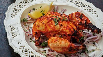 "Recipe: <a href=""http://kitchen.nine.com.au/2017/09/06/05/33/tandoori-murgh-tandoori-chicken"" target=""_top"" draggable=""false"">Vaisakhi tandoori chicken</a>&nbsp;in thirty minutes"