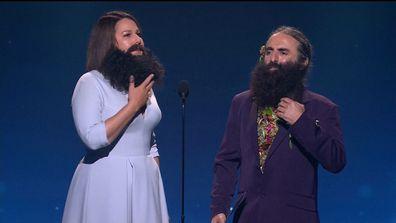 Julia Morris and Costa Georgiadis at the TV Week Logie Awards