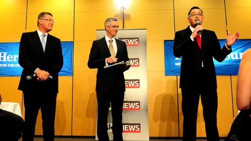 Denis Napthine and Daniel Andrews go head-to-head in marginal Melbourne seat