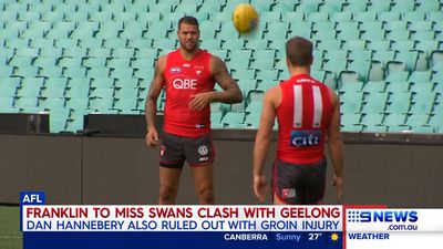 Sydney Swans lose injured Lance Franklin for AFL clash with Geelong Cats