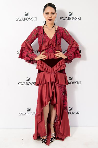 George Maple in Romance Was Born at the Swarovski Rainbow Collection launch in Sydney.