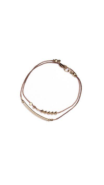 <p>Petite Grand's stackable rope bracelets.</p>
