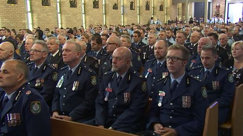 Hundreds of police officers gathered for the Liverpool service.