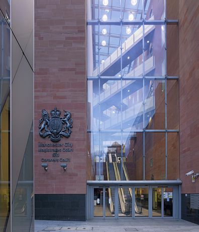 Manchester Magistrates Court in London exterior