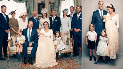 'Relaxed' Prince Louis stars in official christening photos