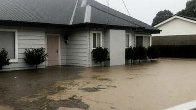 The water rose about a foot and flooded The Fitzclarences' home.