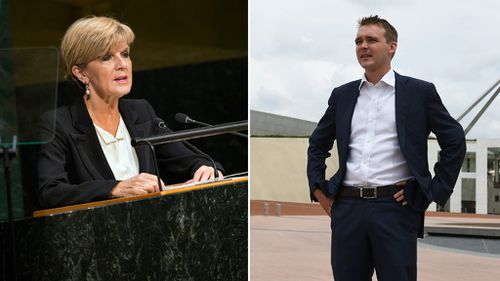 Foreign Minister Julie Bishop and possible future Prime Minister Wyatt Roy. (AAP)